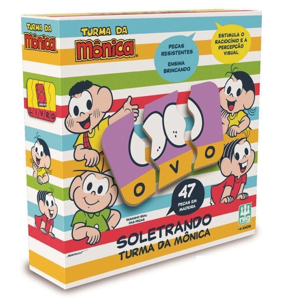 Jogo Soletrando - Turma da Mônica - Nig Brinquedos