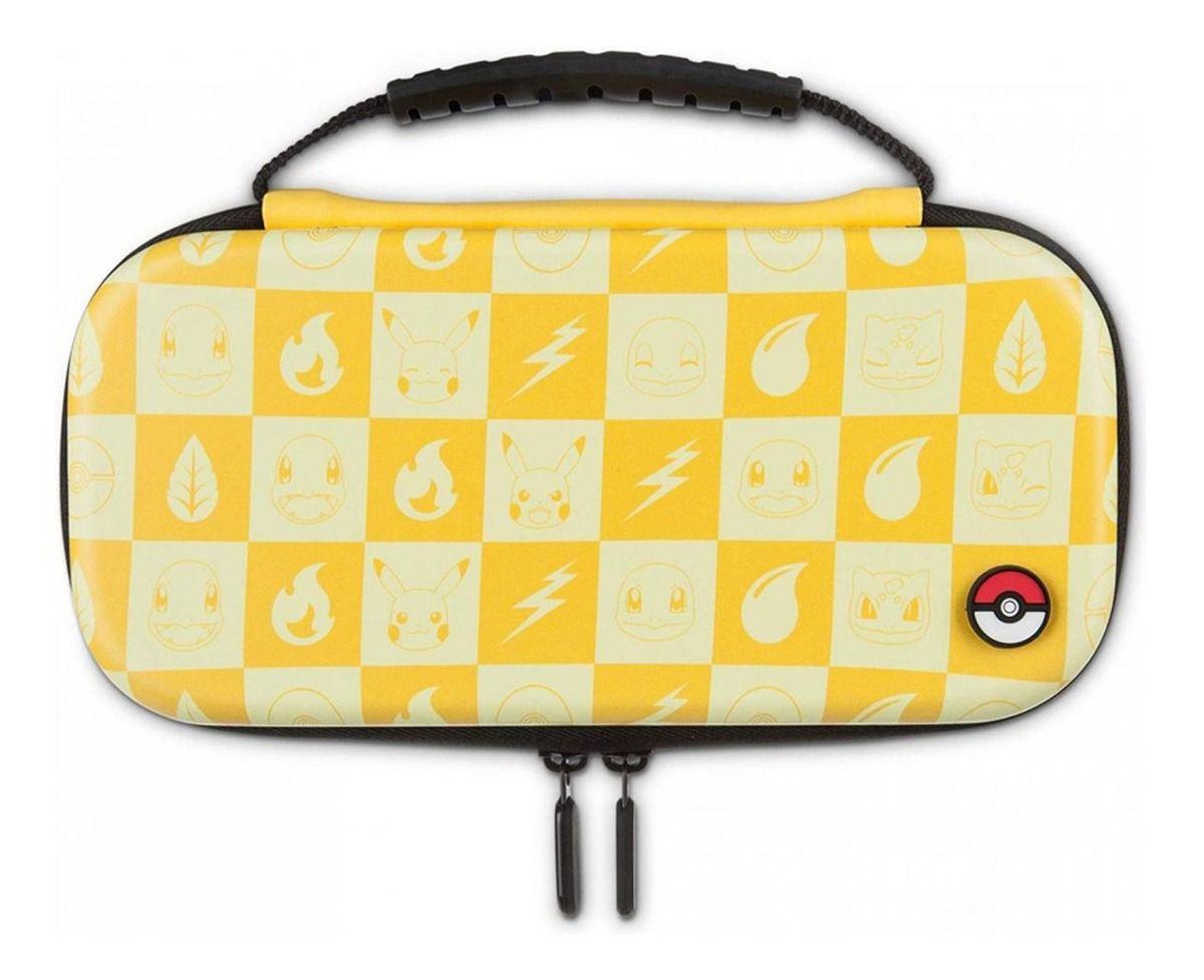 Kit Case de Proteção Pokemon Amarelo - Nintendo Switch