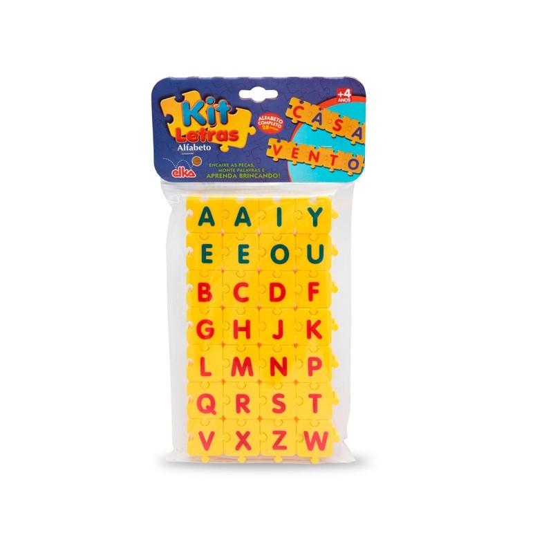 Kit Letras Alfabeto 28 peças - ELKA