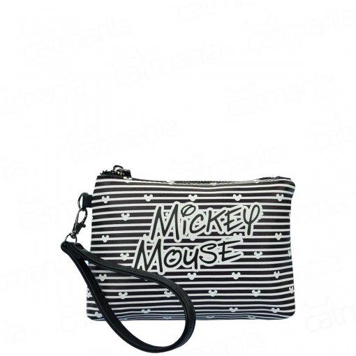 Kit Necessaire Feminina Mickey Mouse 3 Peças Preto