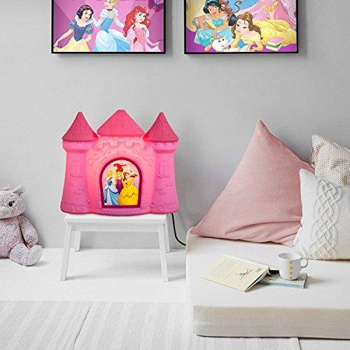 Luminária Castelo Princesas -Rosa