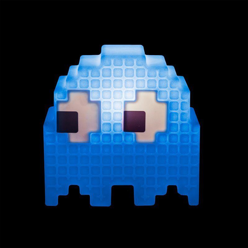 Luminária Fantasminha Pixel Pacman Azul