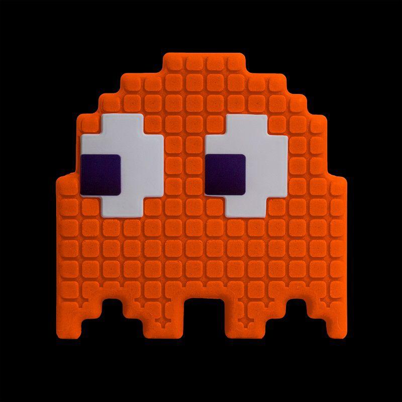 Luminária Fantasminha Pixel Pacman Laranja