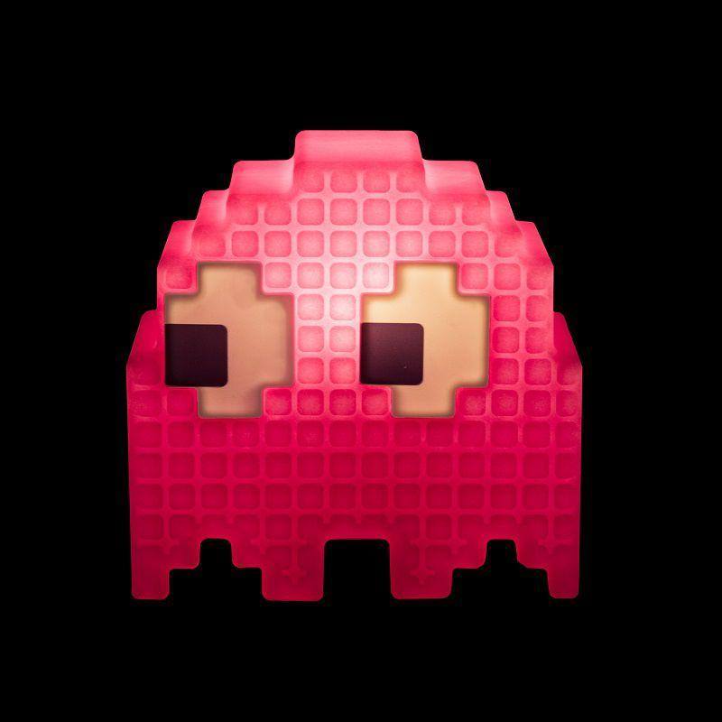 Luminária Fantasminha Pixel Pacman Rosa