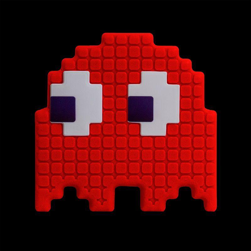 Luminária Fantasminha Pixel Pacman Vermelho
