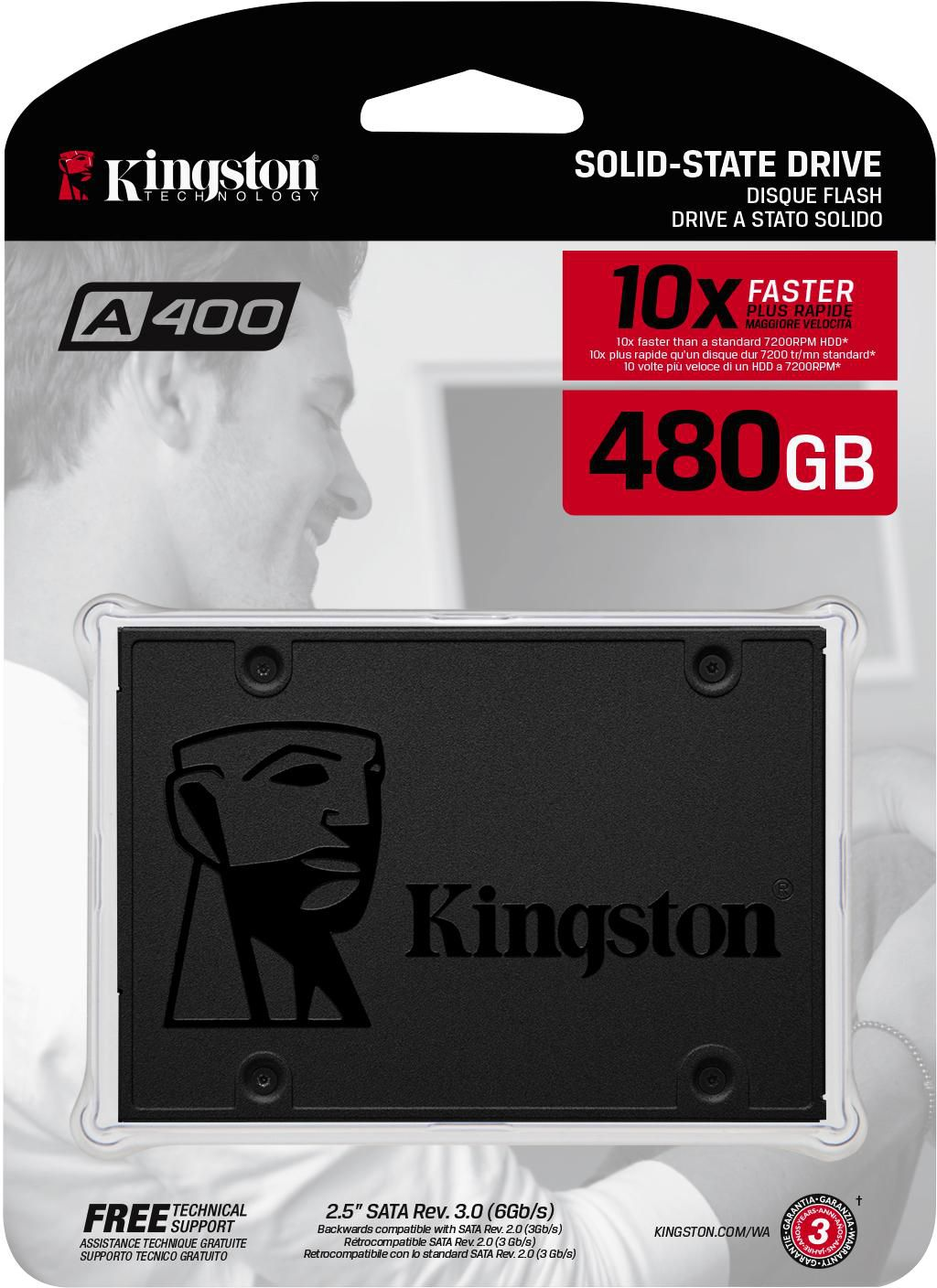 Memória Kingston SSD Plus 480GB A400 500Mb/s