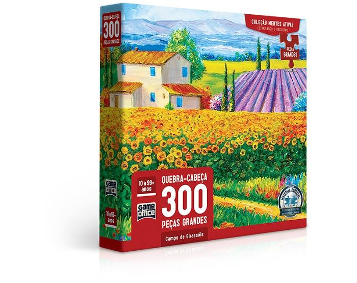 Mentes Ativas – Campo de Girassóis – Quebra-cabeça 300 peças