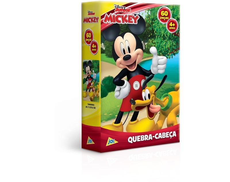 Mickey Mouse - Quebra-cabeça 60 peças - Mickey e Pluto