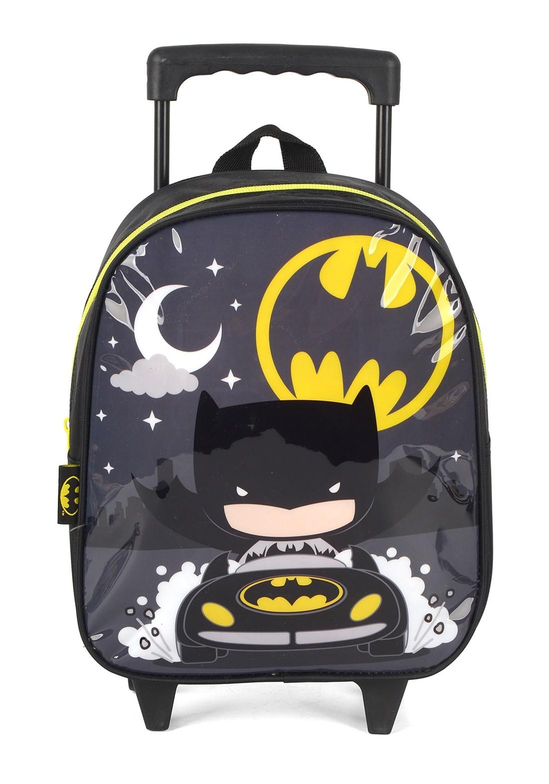 Mochila com Rodas Infantil Batman