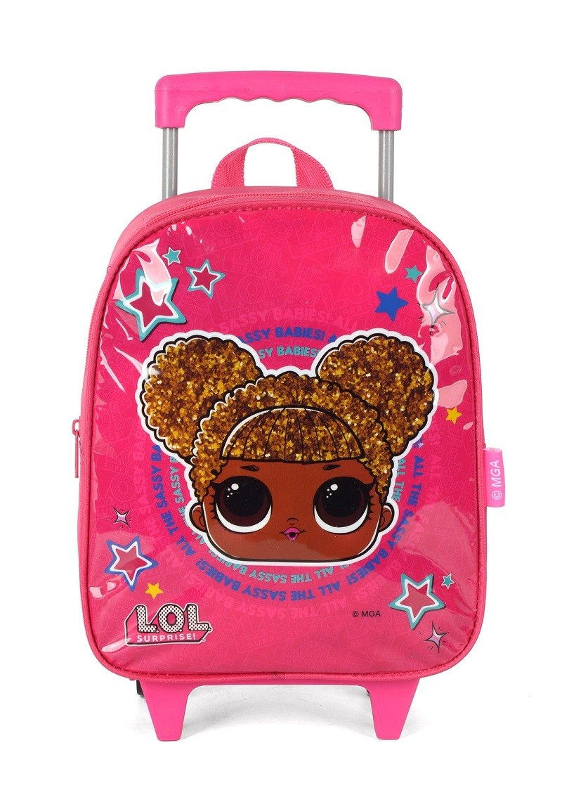 Mochila com Rodas Infantil LOL Pink