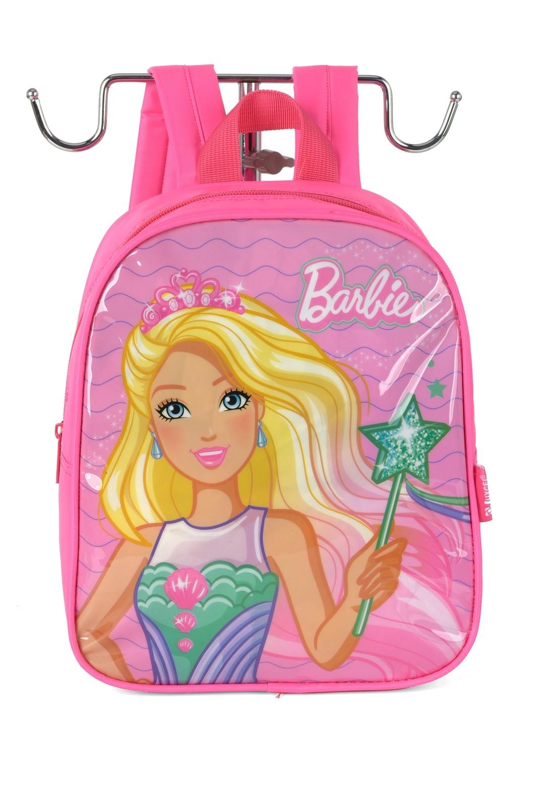 Mochila Infantil Barbie Rosa