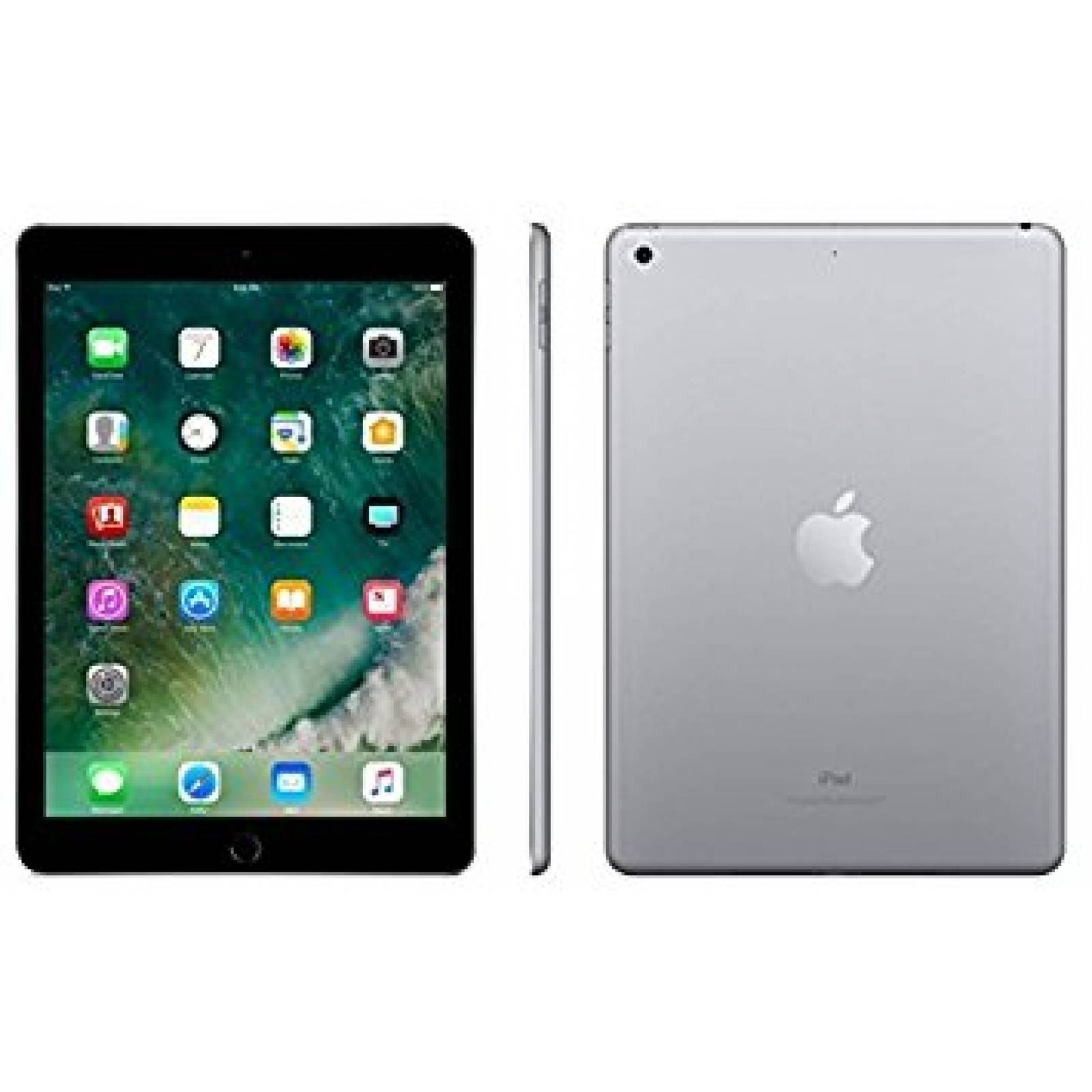 "iPad 6 Apple 32GB Cinza Espacial Tela 9.7"" Retina - Proc. Chip A10 Câm. 8MP + Frontal iOS 11 Touch ID"