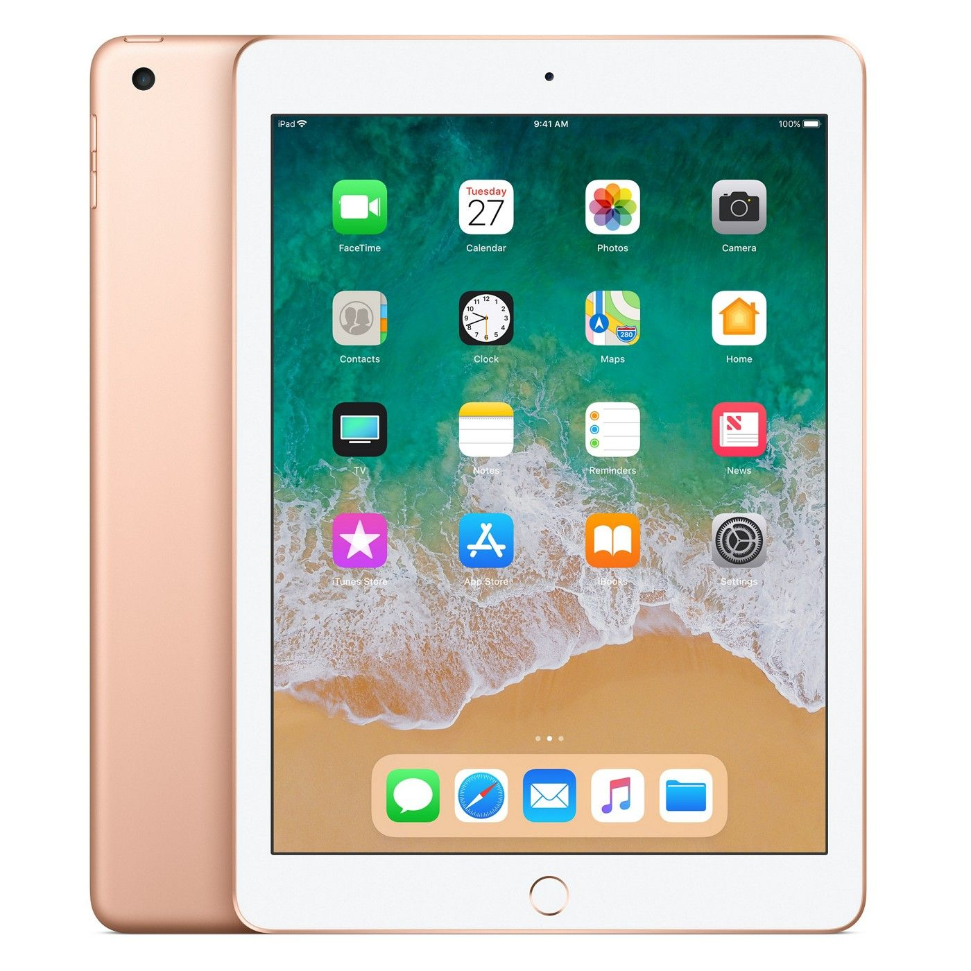 "iPad 6 Apple 32GB Dourado Tela 9.7"" Retina - Proc. Chip A10 Câm. 8MP + Frontal iOS 11 Touch ID"