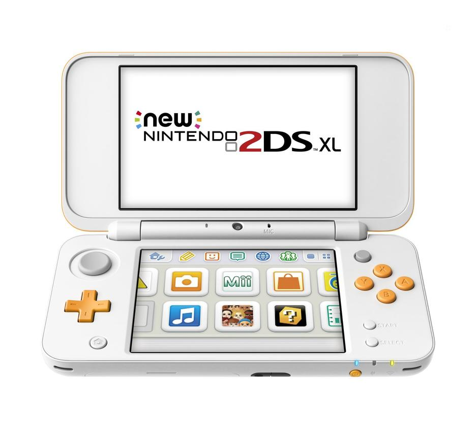 New Nintendo 2Ds XL - Branco e Laranja + Jogo Mario Kart 7