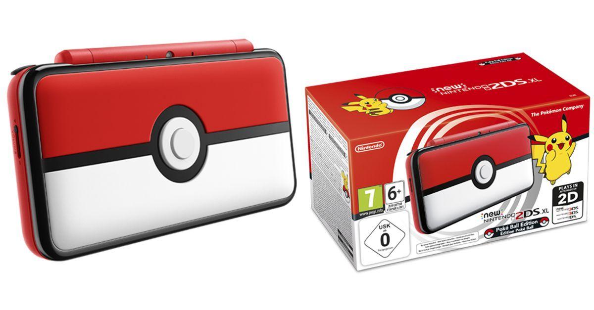 New Nintendo 2Ds XL - Edição Pokebola + 30 Jogos 3D na Memória