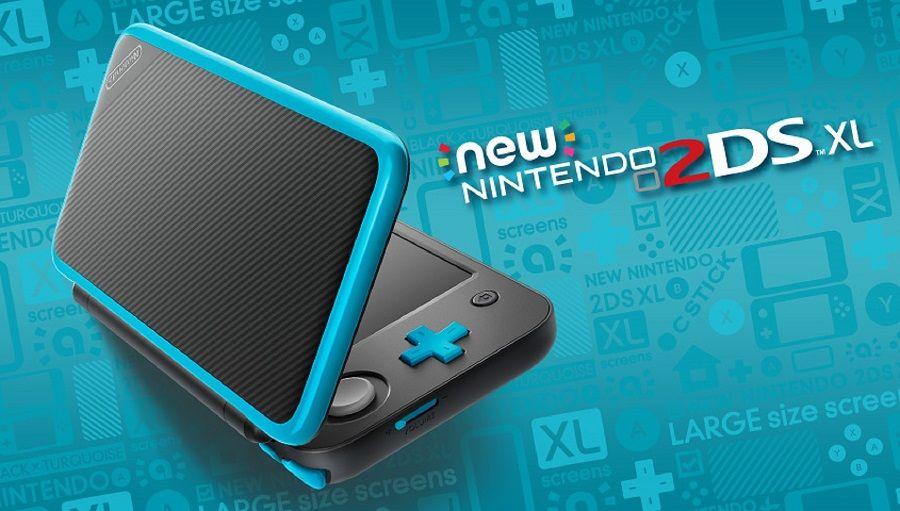 New Nintendo 2Ds XL - Preto e Azul + 30 Jogos 3D na Memória