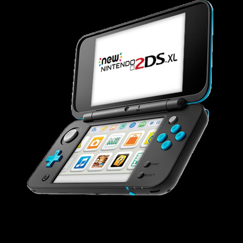 New Nintendo 2Ds XL - Preto e Azul + 50 Jogos 3D na Memória