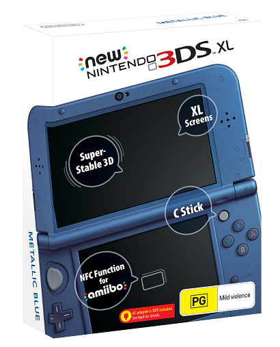 New Nintendo 3Ds XL Azul + Carregador Original Nintendo