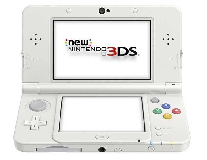 New Nintendo 3Ds XL Branco + Carregador Original Nintendo + 50 Jogos 3D na Memória
