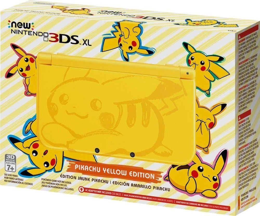 New Nintendo 3Ds XL Edição Pokemon Amarelo + Carregador Original Nintendo + 50 Jogos 3D na Memória