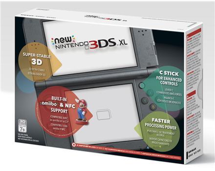 New Nintendo 3Ds XL Preto + Carregador Original Nintendo + R4 + 8Gb + 400 jogos