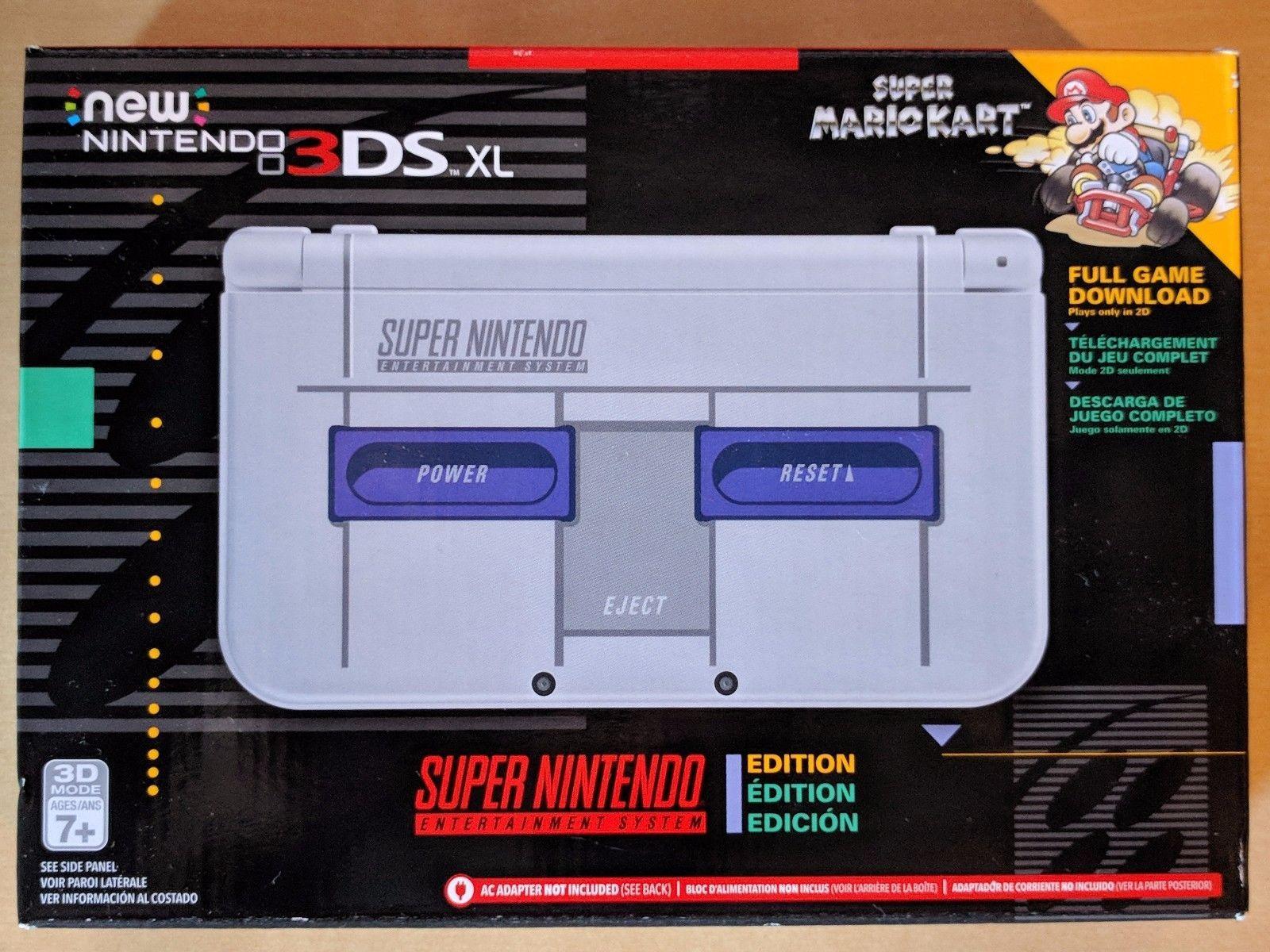 New Nintendo 3Ds XL Super Nintendo + Carregador Original Nintendo + 30 Jogos 3D na Memória