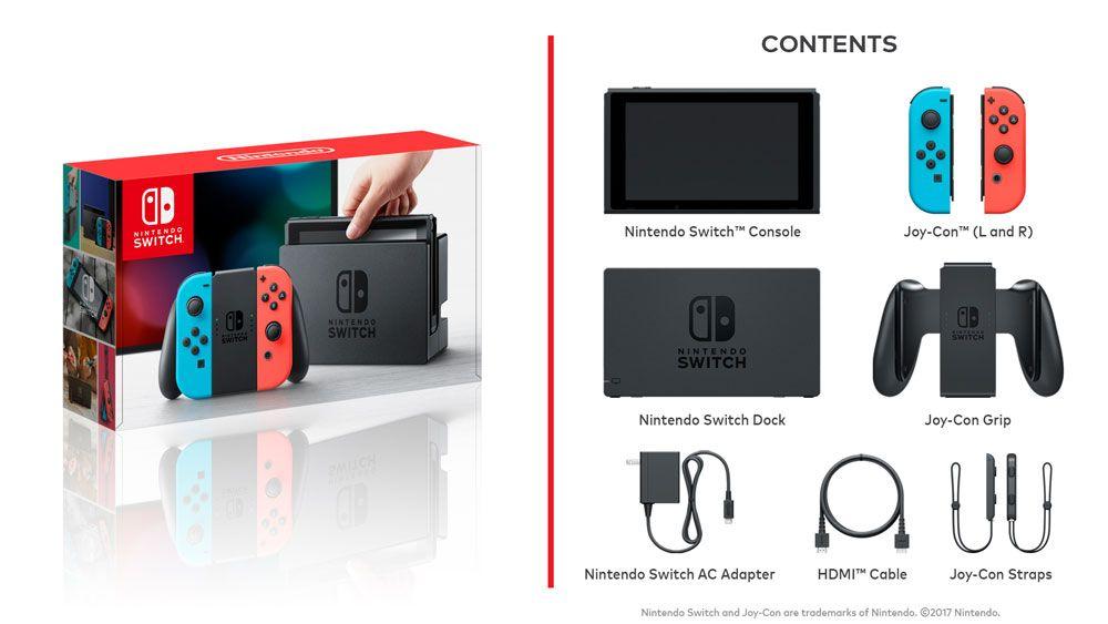 New Nintendo Switch Azul e Vermelho Neon + 32 Jogos na Memória