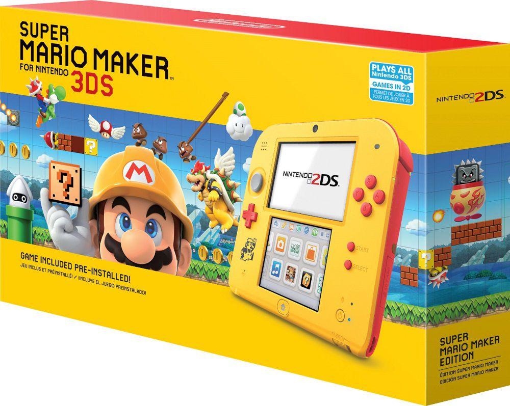Nintendo 2Ds Branco e Vermelho + Jogo Mario Maker