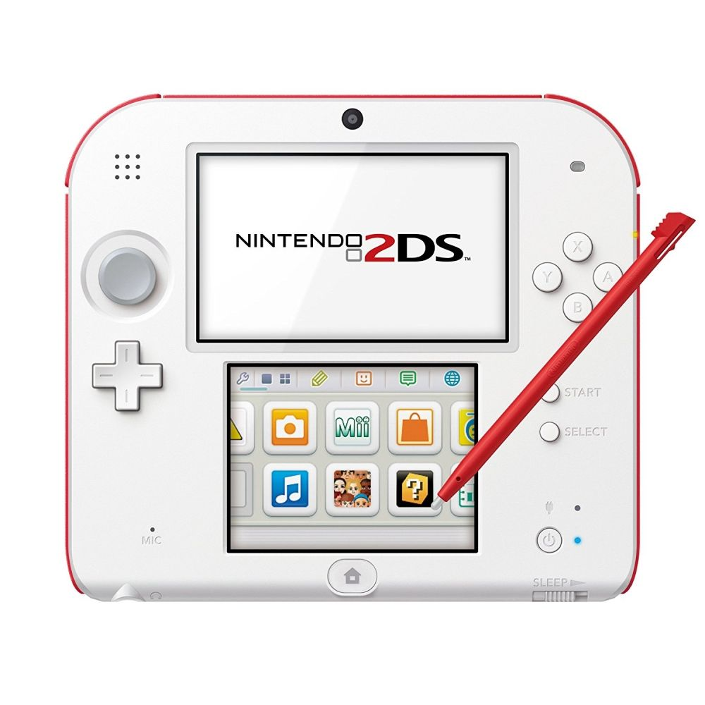 Nintendo 2Ds Branco e Vermelho + Jogo Super Mario Bros. 2 + 50 Jogos 3D na Memória