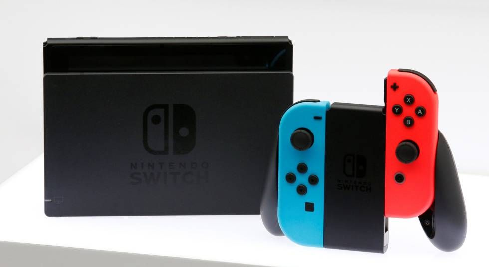 Nintendo Switch Azul e Vermelho Neon + 32 Jogos na Memória