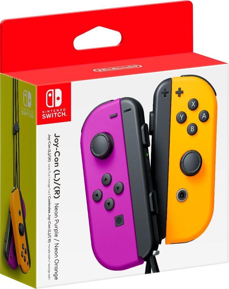 Nintendo Switch Joy-Con (L) e (R) - Roxo e Laranja