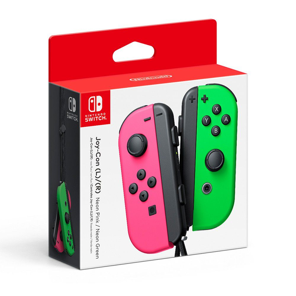 Nintendo Switch Joy-Con (L) e (R) - Verde e Rosa