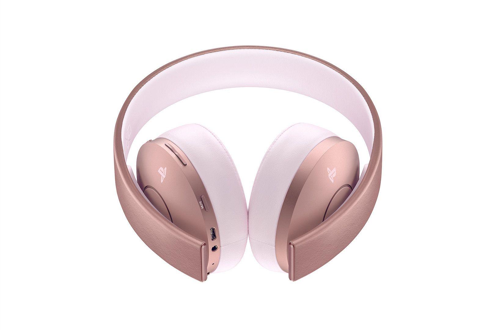 Novo Headset Sony Gold Wireless Rosa