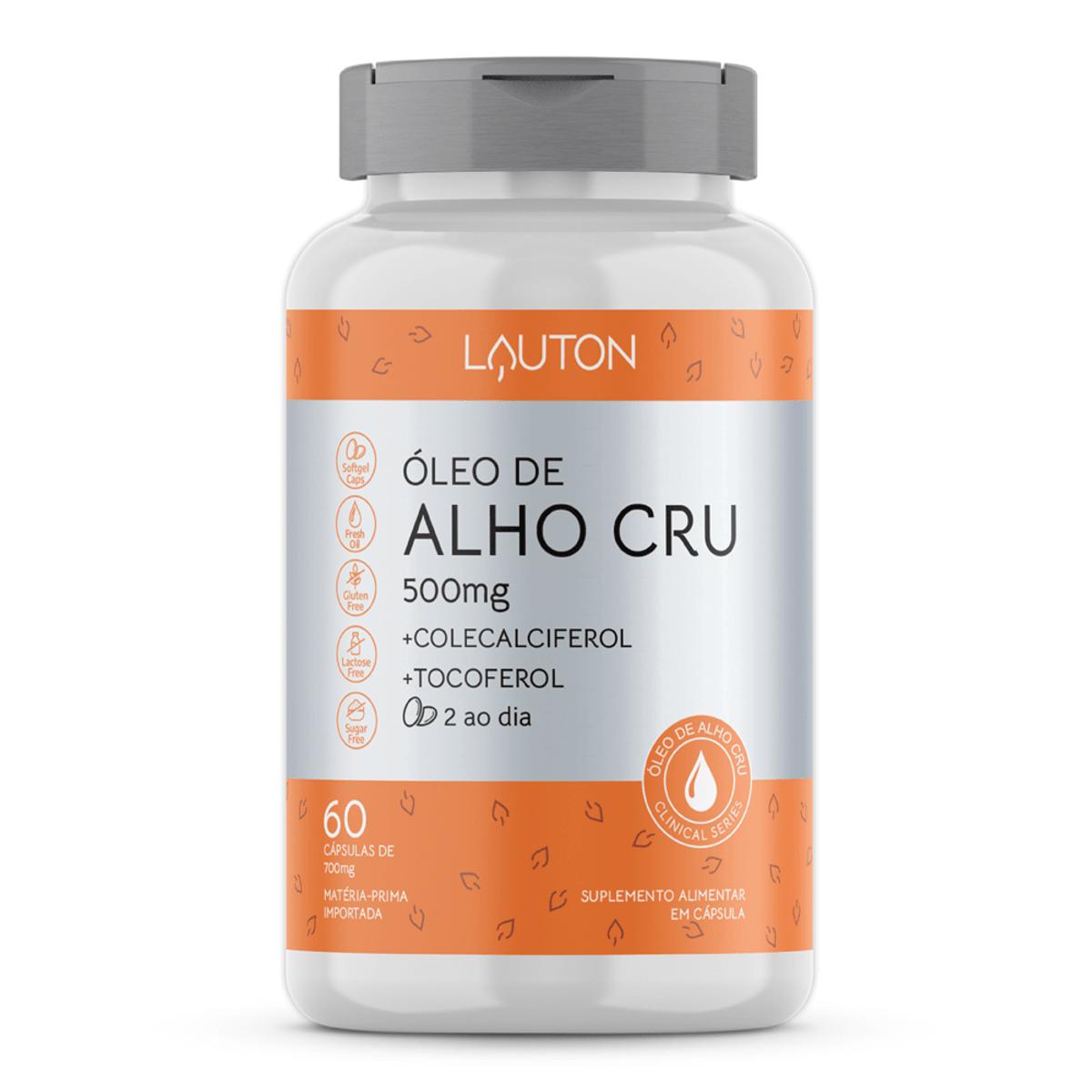 Óleo de Alho Cru 500mg - 60 Cápsulas - Lauton Nutrition