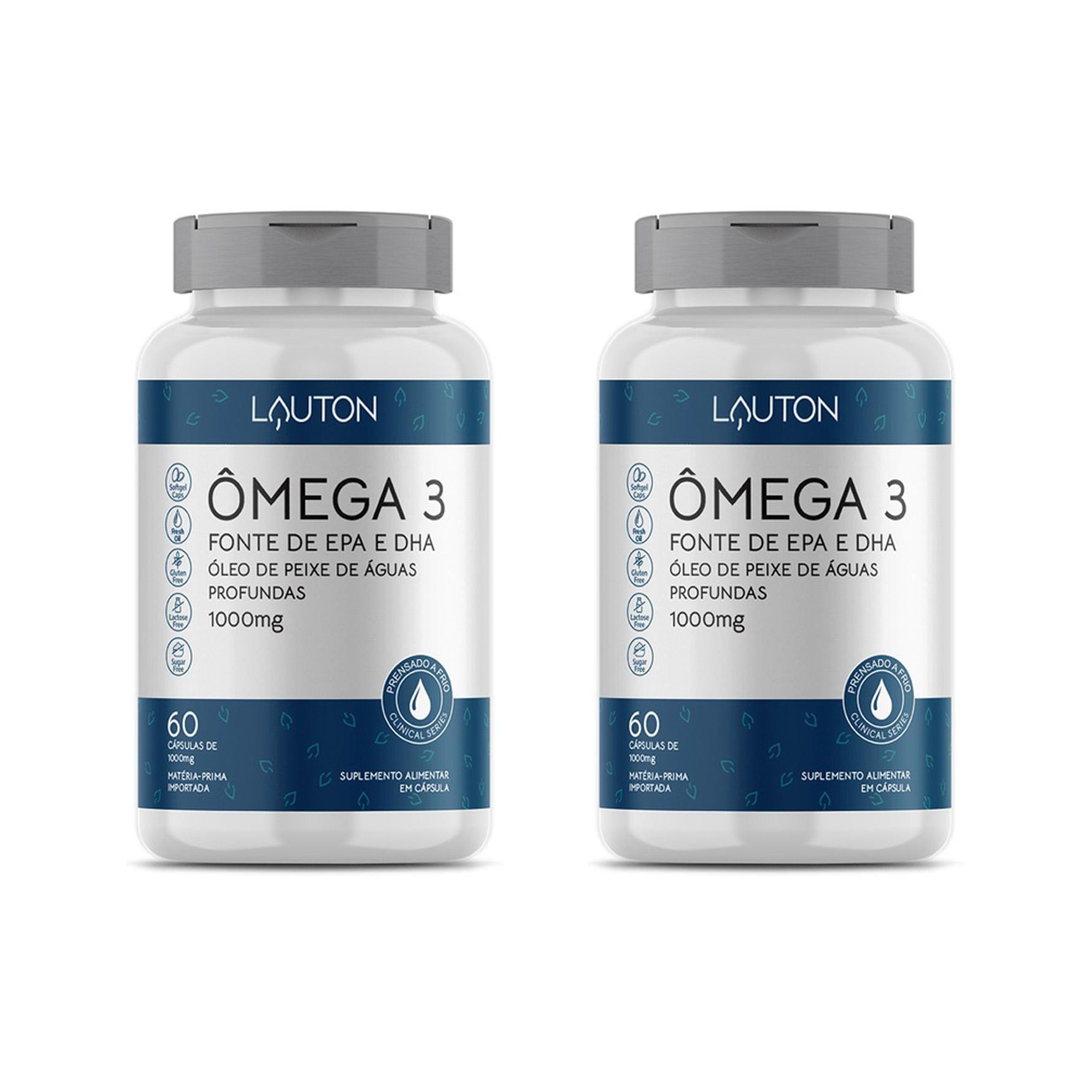 Ômega 3, Fonte de EPA e DHA - 60 Cápsulas - Lauton Nutrition (2 Unidades)