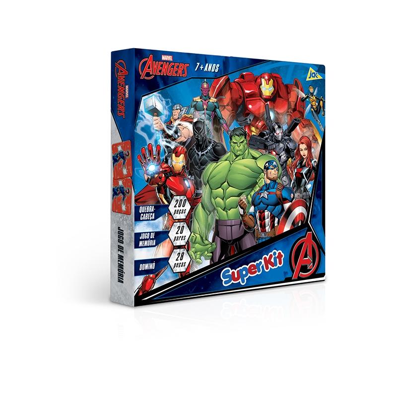Os Vingadores – Super Kit (Quebra-cabeça + Dominó + Jogo da Memória)