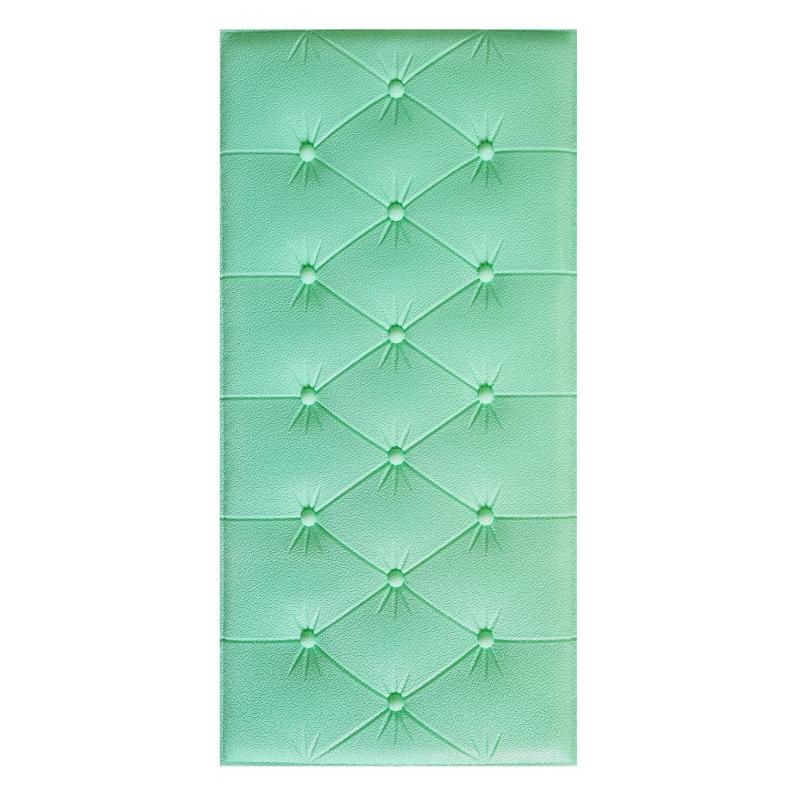 Painel Placa 3D Estilo Espuma Adesiva Verde Água 60 X 30 Parede