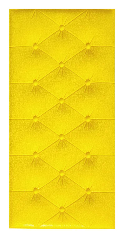 Painel Placa 3D Estilo Espuma Adesiva Amarela 60 X 30 Parede