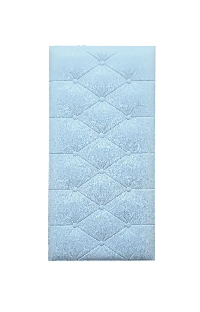 Painel Placa 3D Estilo Espuma Azul Adesiva 60 X 30 Parede