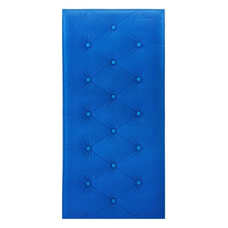 Painel Placa 3D Estilo Espuma Adesiva Azul Escuro 60 X 30 Parede