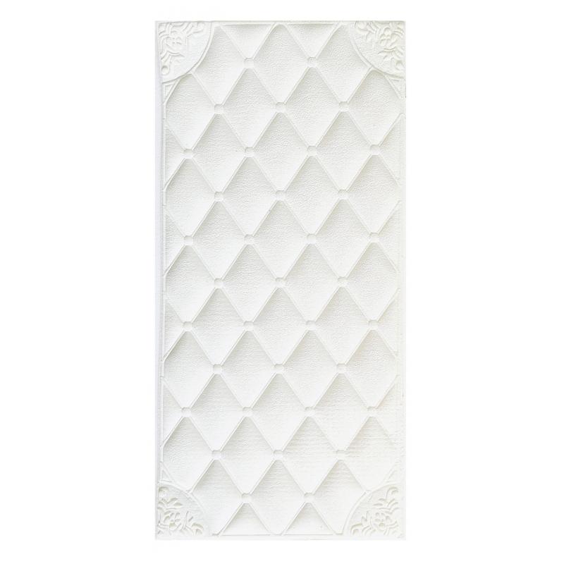 Painel Placa 3D Estilo Espuma Branca Adesiva 60 X 30 Parede