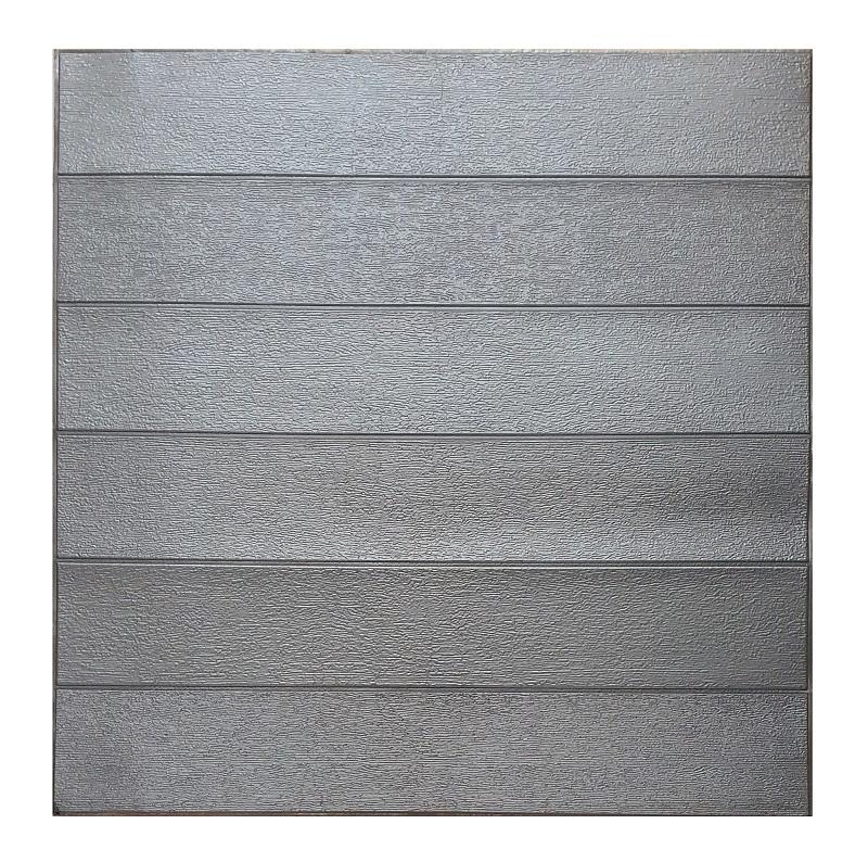 Painel Placa 3D Estilo Madeira Prata Espuma Adesiva 77 X 70 Parede