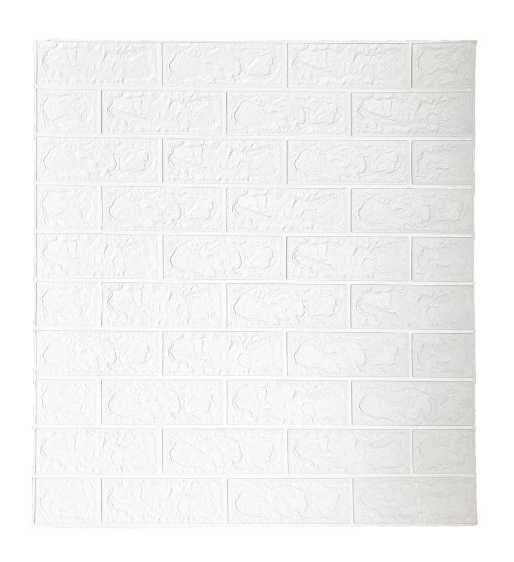 Painel Placa 3D Tijolo Branco Espuma Adesiva 77 X 70 Parede