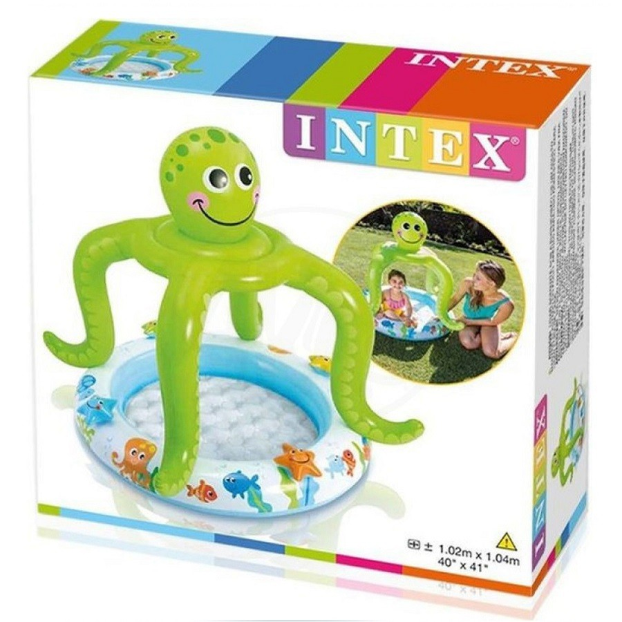 Piscina Piscina Infantil com Cobertura Polvo Risonho 45L - Intex