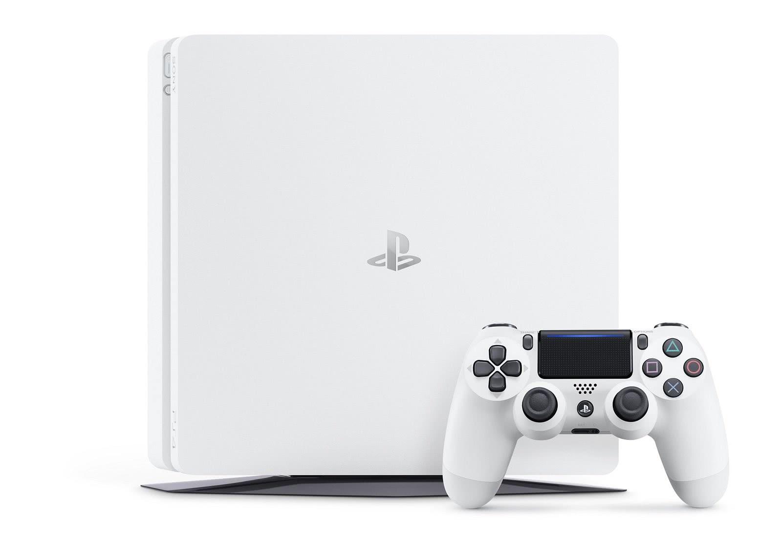 Playstation 4 - 1 Terabyte Slim Branco + Cabo HDMI + 15 Jogos PSN