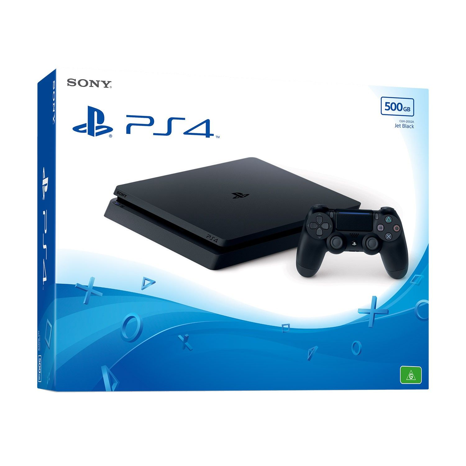 Playstation 4 - 500 Gb Slim + Jogo Horizon Zero Dawn + Cabo HDMI + 15 Jogos PSN (2 Controles)