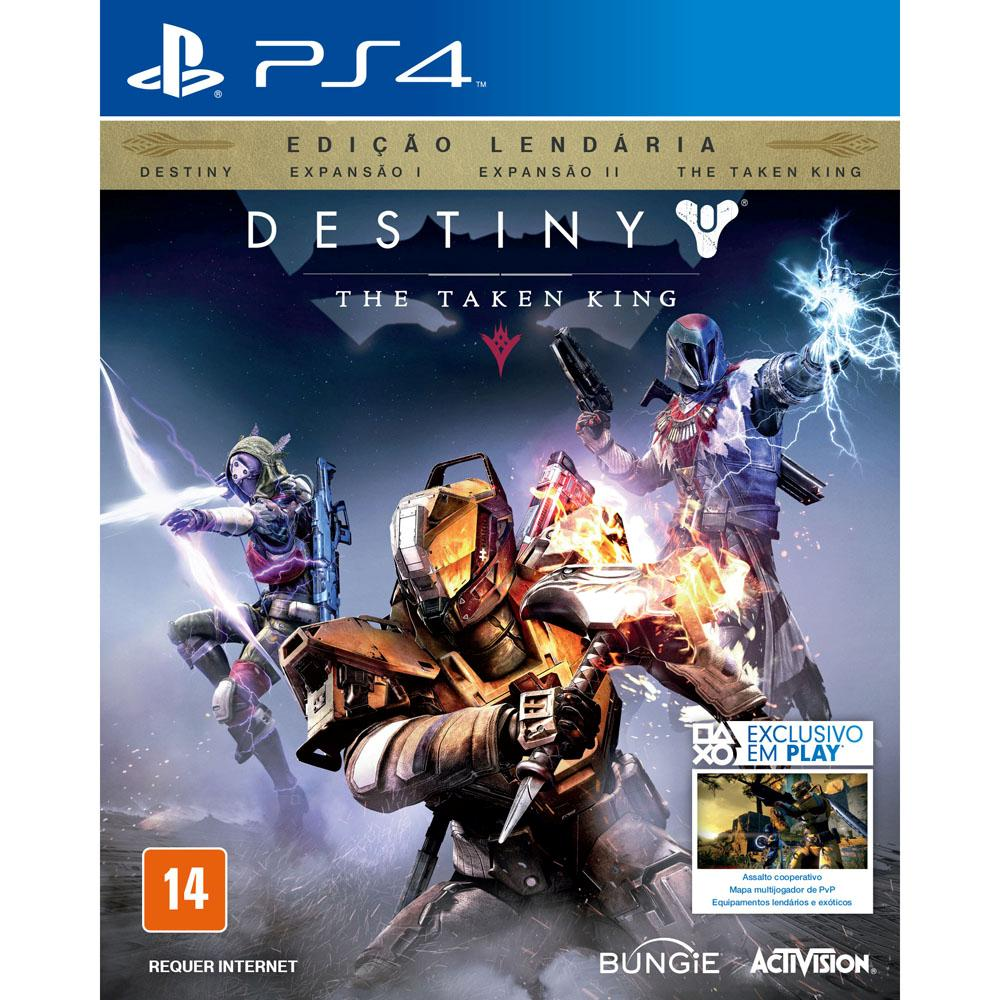 PlayStation 4 Destiny: The Taken King 500GB Bundle + Cabo HDMI + 15 Jogos PSN