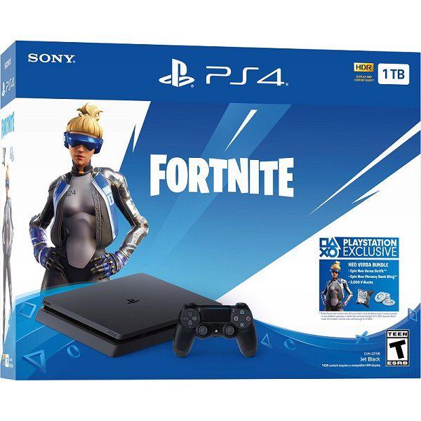 Playstation 4 Slim - 1 Terabyte + Jogo Fortnite (2 Controles)