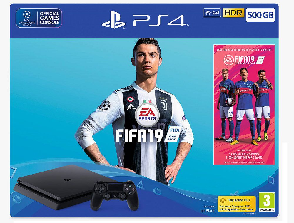 Playstation 4 Slim - 500Gb + Fifa 19