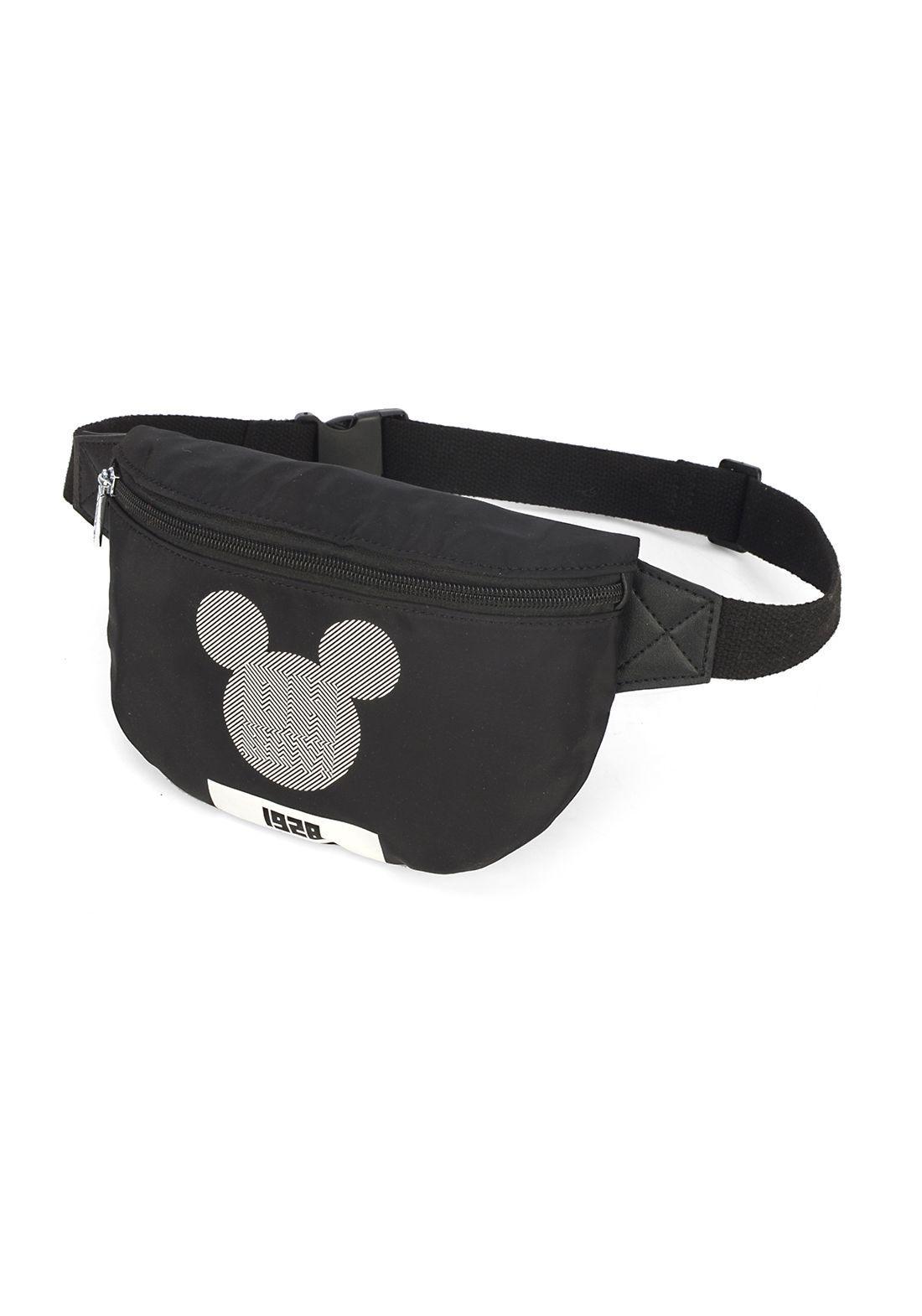 Pochete Feminina Preta Mickey